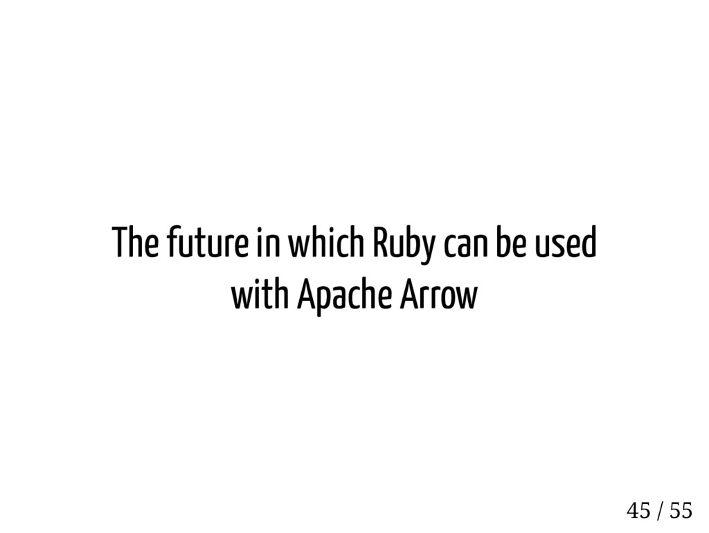 The future in which Ruby can be used with Apach...