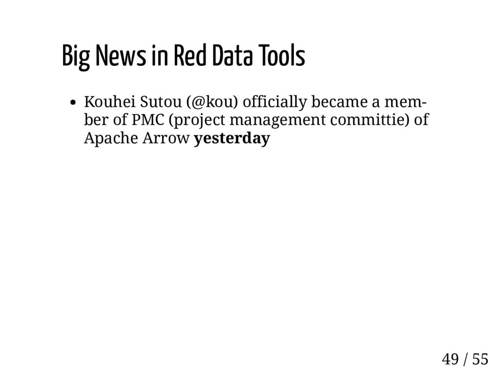 Big News in Red Data Tools Kouhei Sutou (@kou) ...