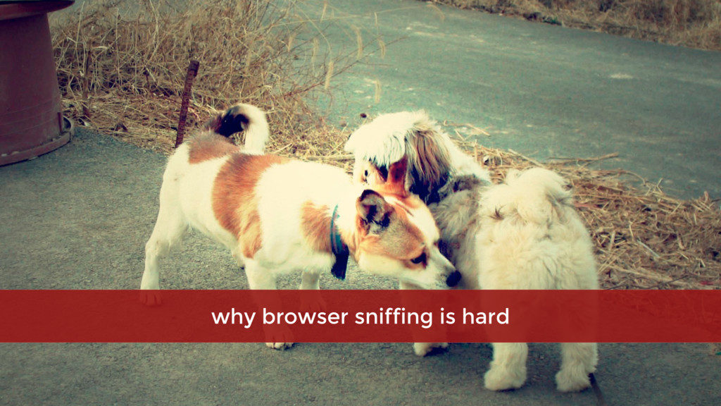 why browser sniffing is hard