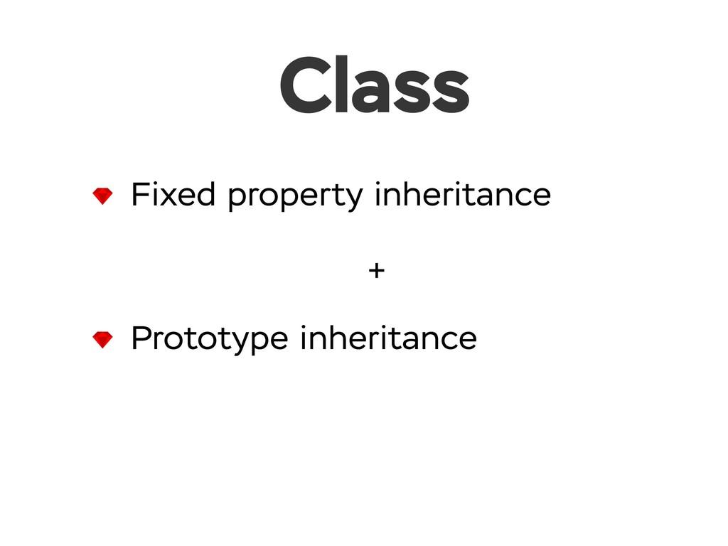 Class Fixed property inheritance Prototype inhe...