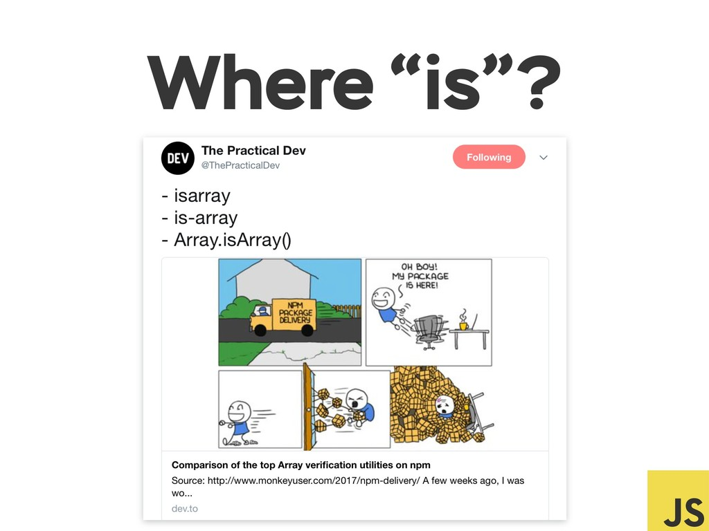 """Where """"is""""?"""