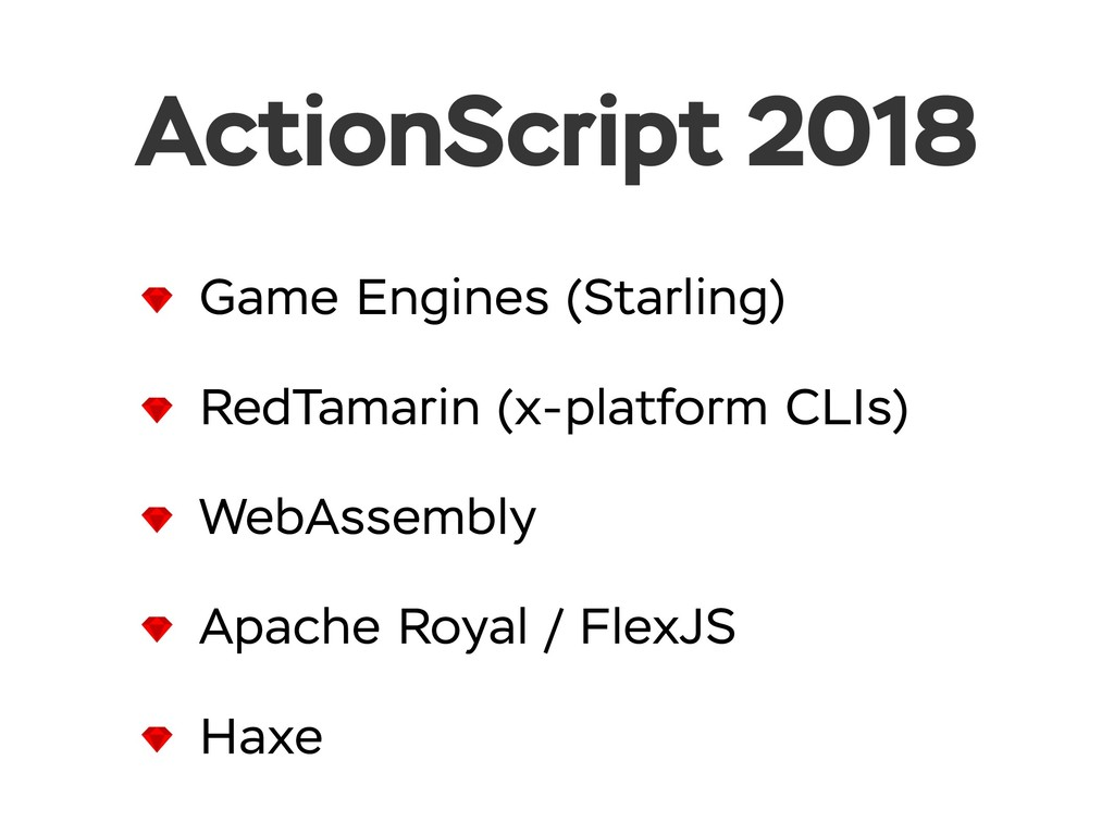 ActionScript 2018 Game Engines (Starling) RedTa...