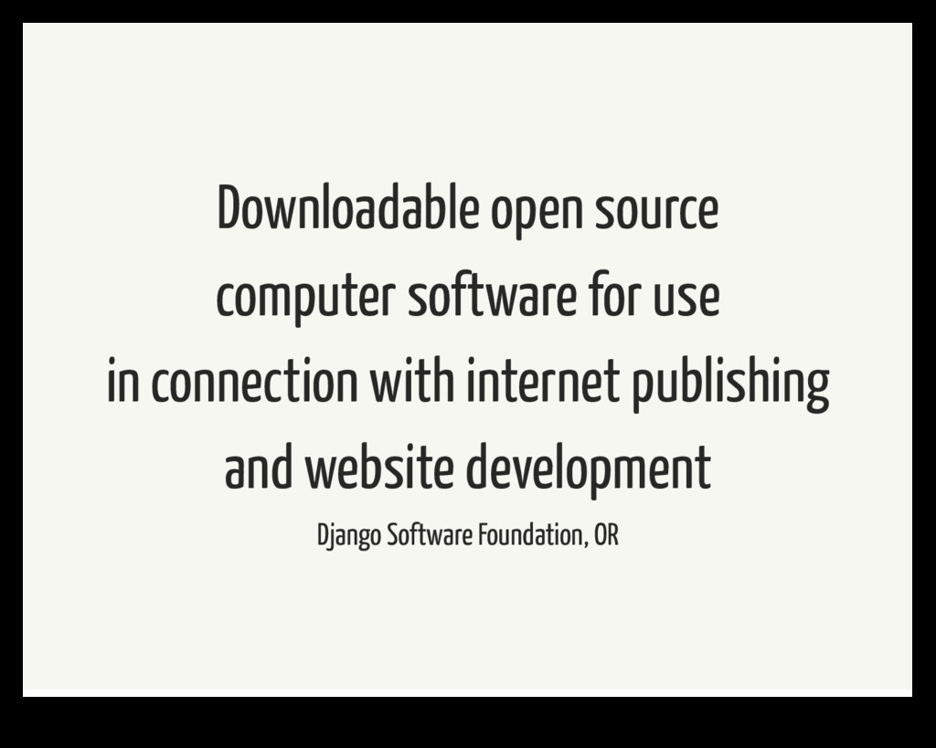 Downloadable open source computer software for ...