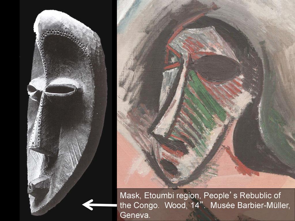 Mask, Etoumbi region, People`s Rebublic of the ...