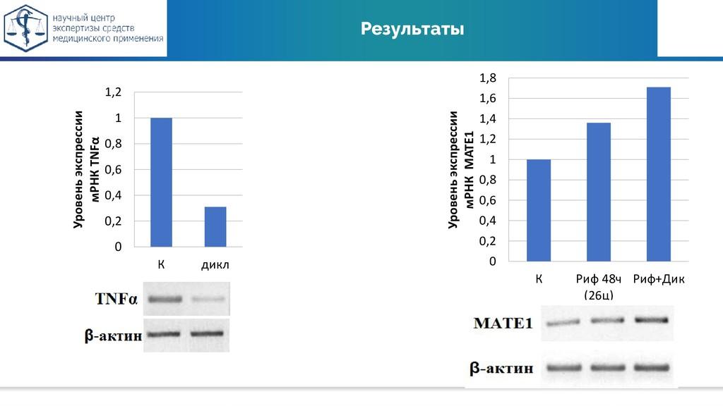 Результаты 0 0,2 0,4 0,6 0,8 1 1,2 К дикл Урове...