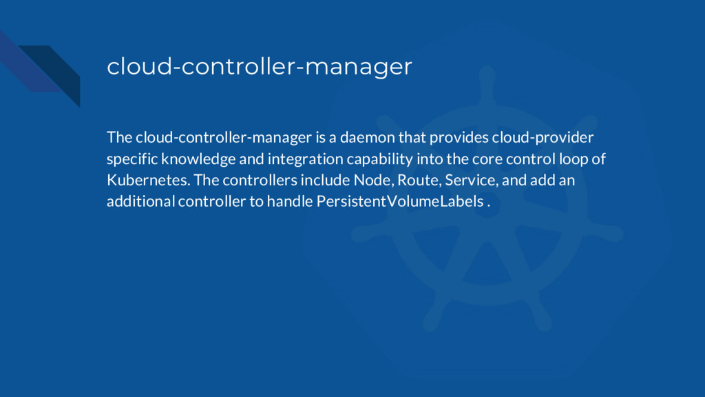 cloud-controller-manager The cloud-controller-m...