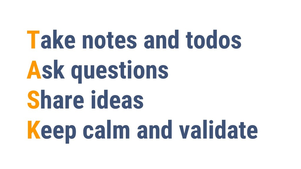 3 Take notes and todos Ask questions Share idea...