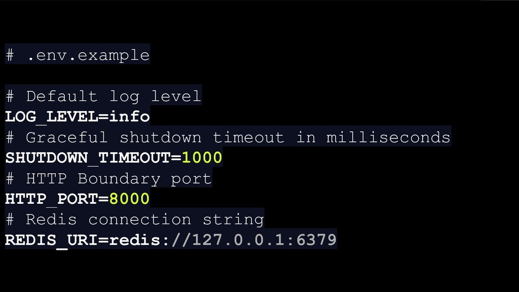 # .env.example # Default log level LOG_LEVEL=in...