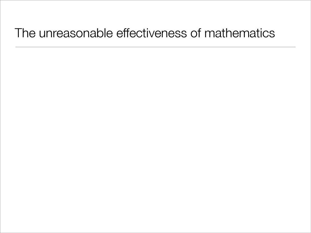 The unreasonable effectiveness of mathematics