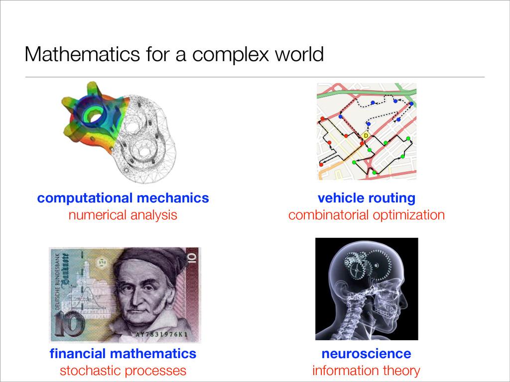 Mathematics for a complex world computational m...