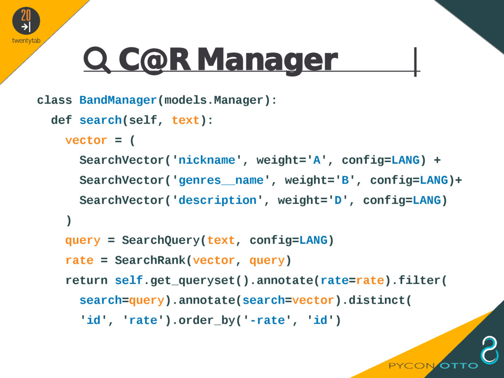  C@R Manager   class BandManager(models.Manage...