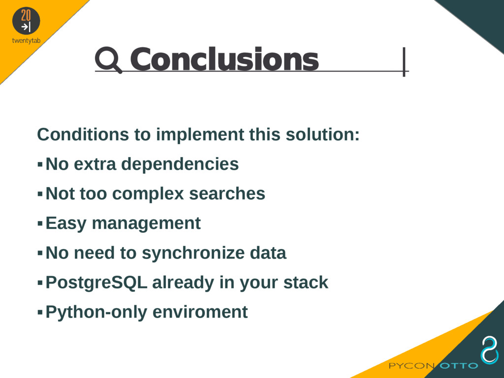  Conclusions   Conditions to implement this so...