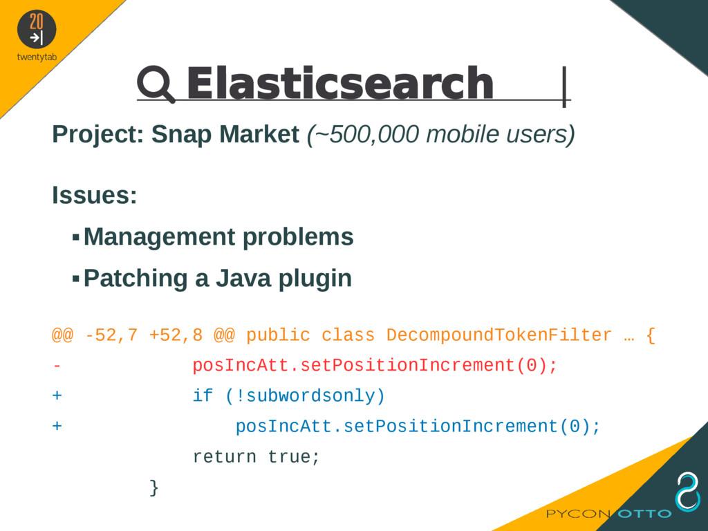  Elasticsearch   Project: Snap Market (~500,00...