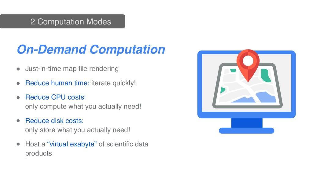 On-Demand Computation Batch Computation ● Just-...