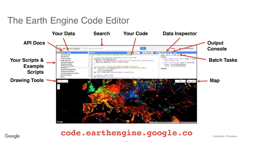 Confidential + Proprietary The Earth Engine Cod...