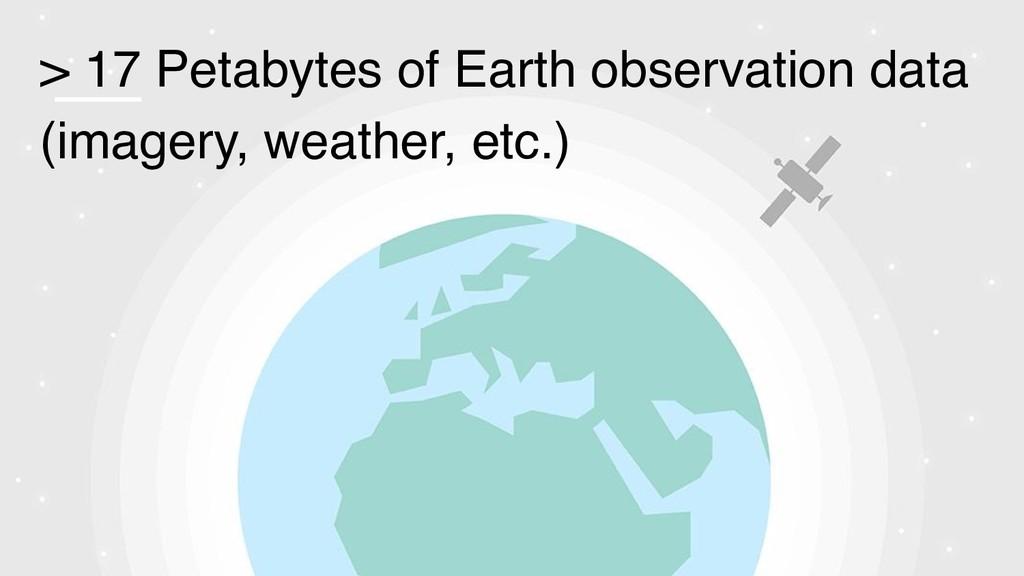 > 17 Petabytes of Earth observation data (image...