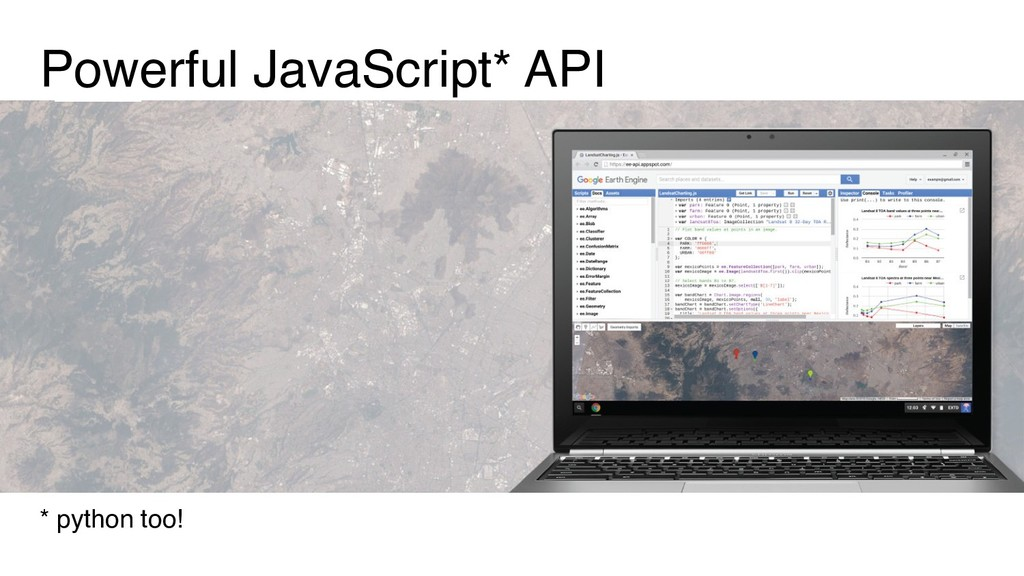 Powerful JavaScript* API * python too!