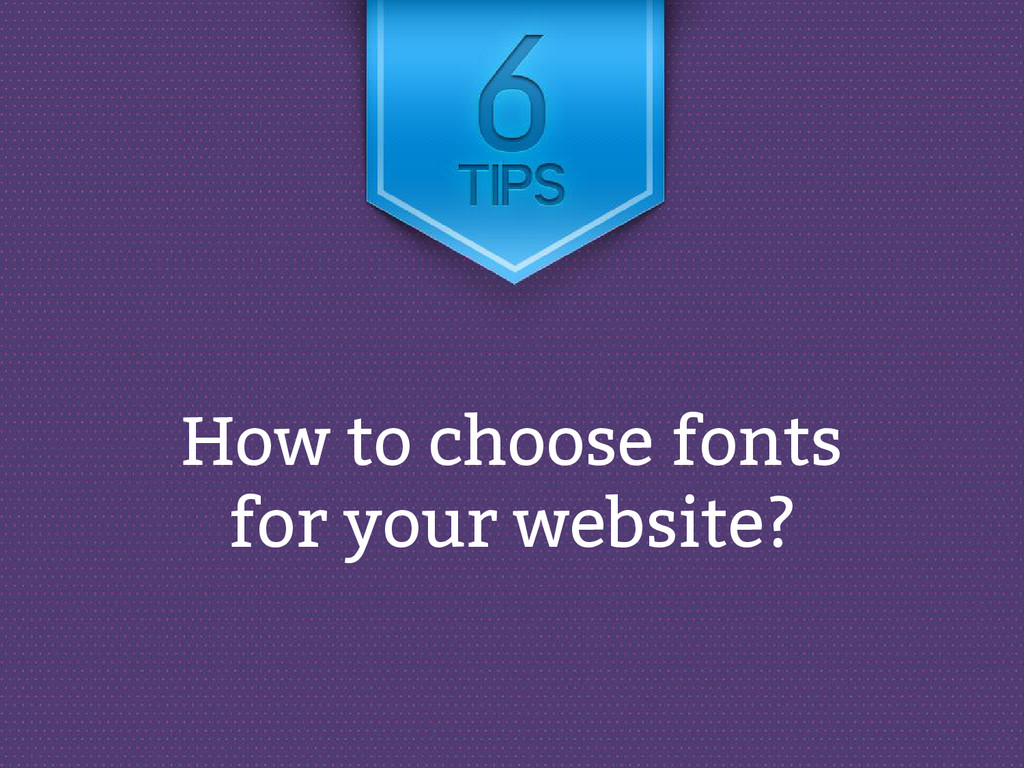 How to choose fonts for your website?