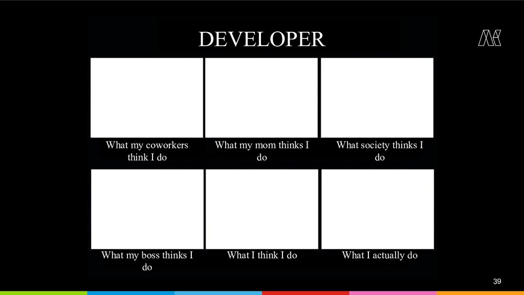 39 DEVELOPER What my coworkers think I do What ...