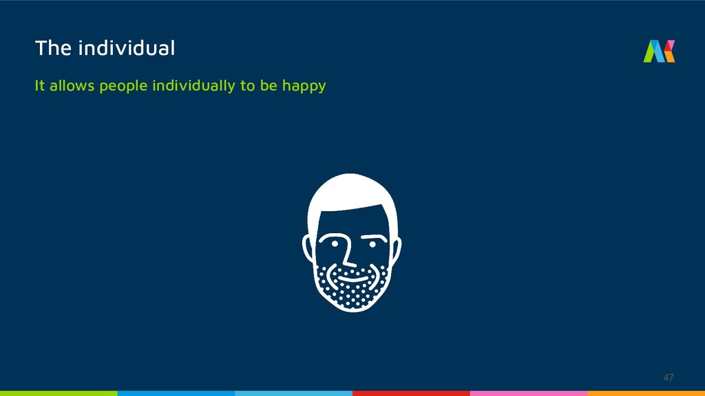 The individual 47 It allows people individually...