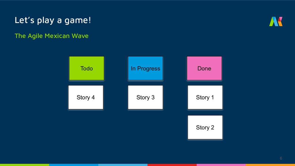 6 Let's play a game! The Agile Mexican Wave Tod...