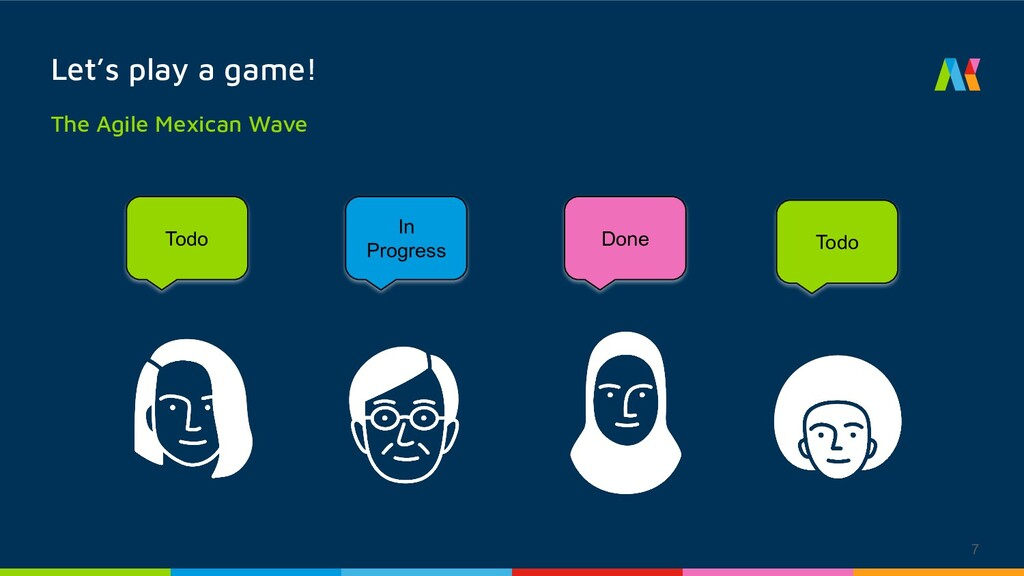7 Let's play a game! The Agile Mexican Wave Tod...