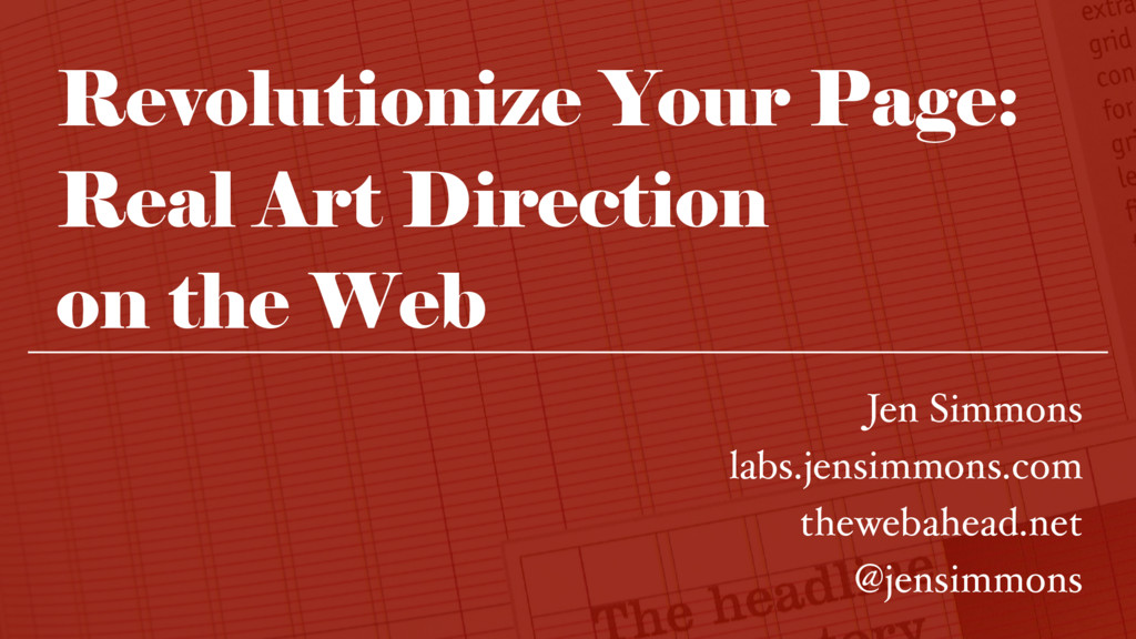 Revolutionize Your Page: Real Art Direction 
