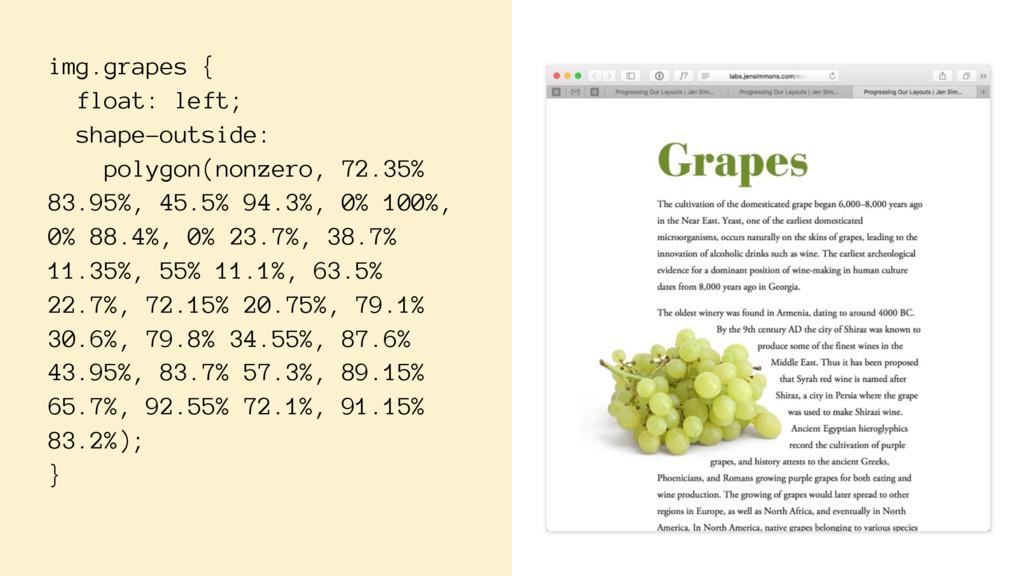img.grapes { float: left; shape-outside: polygo...