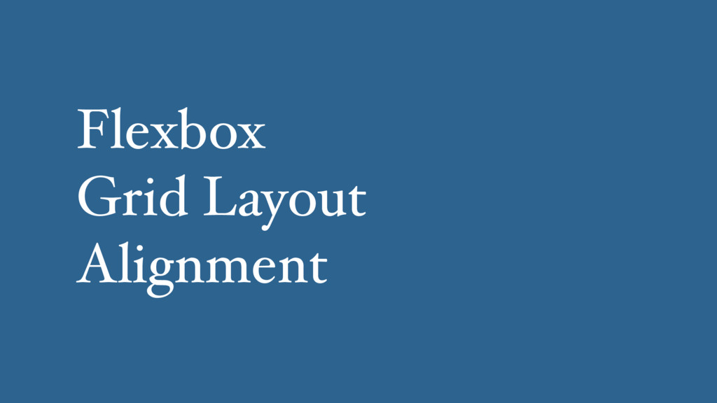 Flexbox Grid Layout Alignment