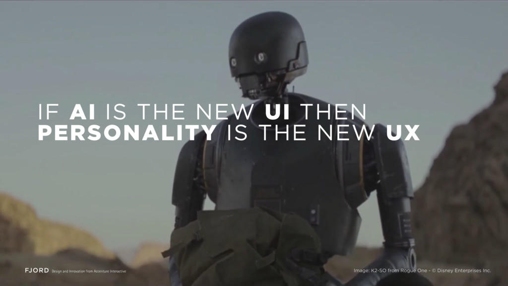 IF AI IS THE NEW UI THEN PERSONALITY IS THE NEW...