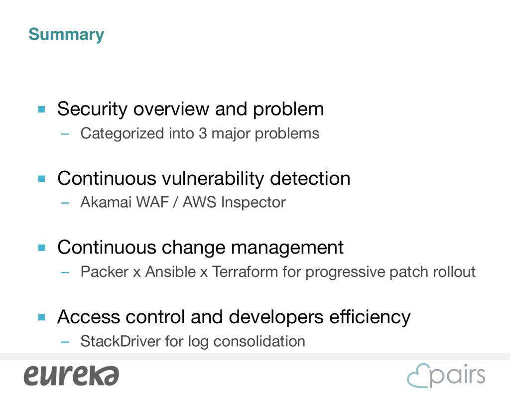 Summary ■ Security overview and problem  – Cate...