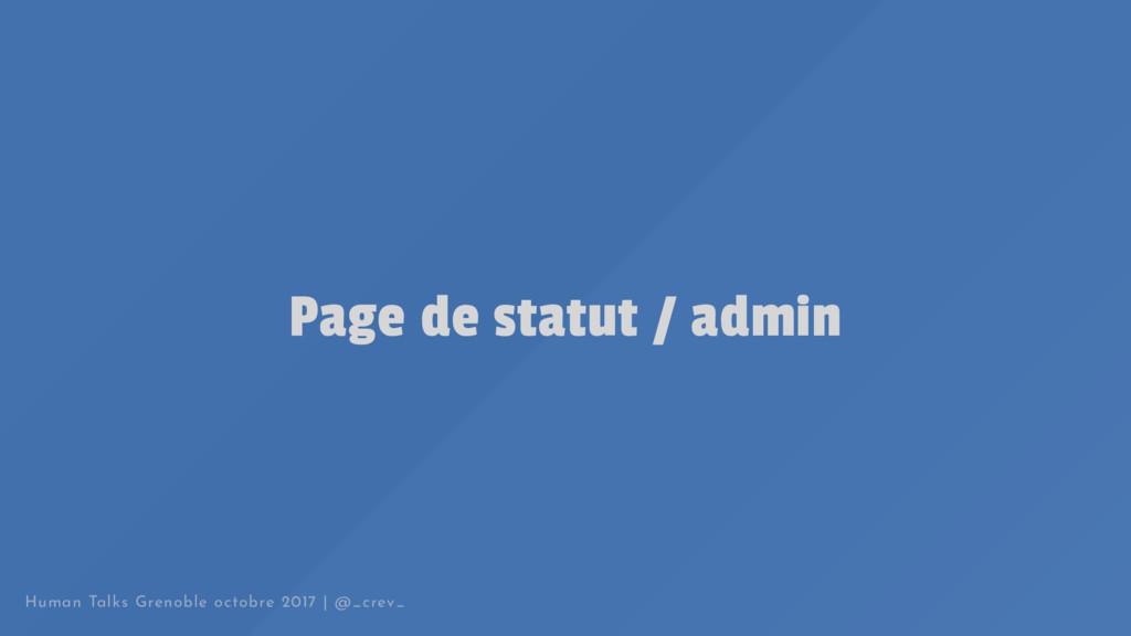 Page de statut / admin Human Talks Grenoble oct...