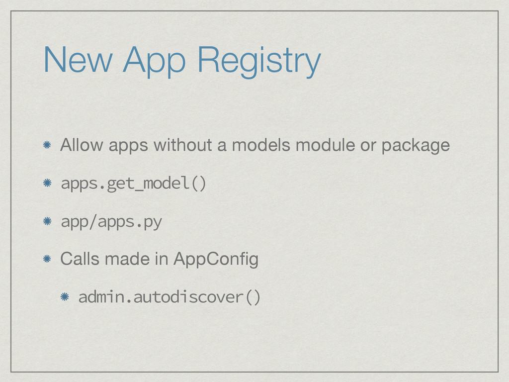 New App Registry Allow apps without a models mo...