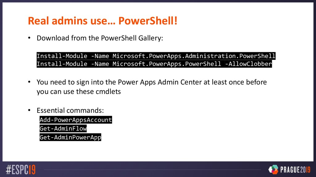 Real admins use… PowerShell! • Download from th...
