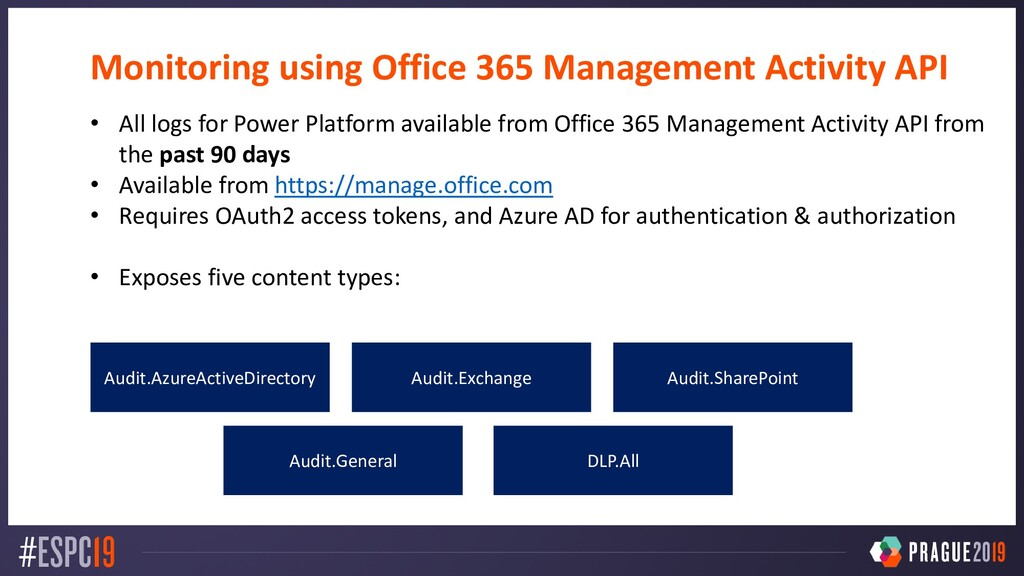 Monitoring using Office 365 Management Activity...