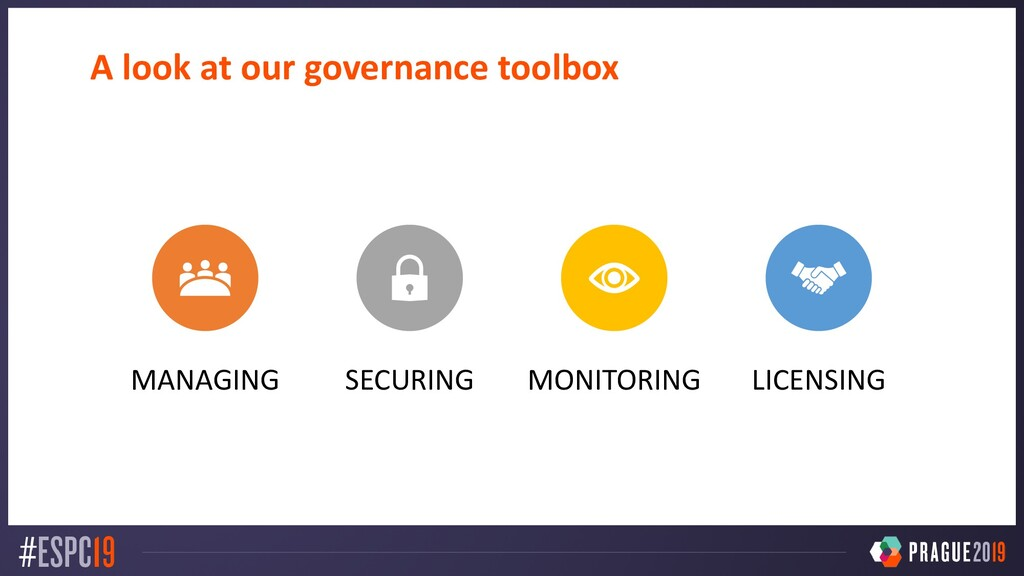 A look at our governance toolbox MANAGING SECUR...