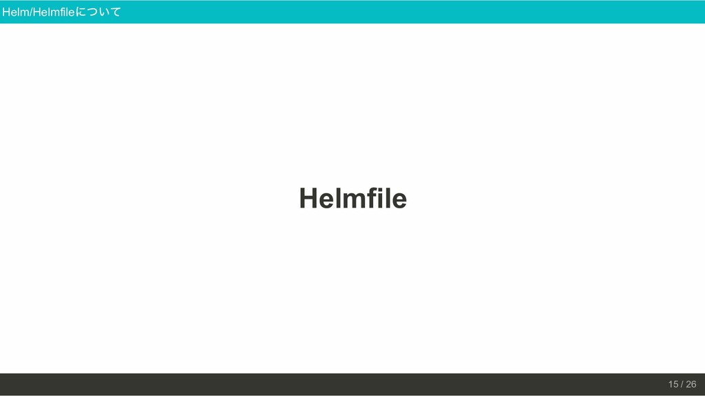 Helmfile Helm/Helmfile について 15 / 26