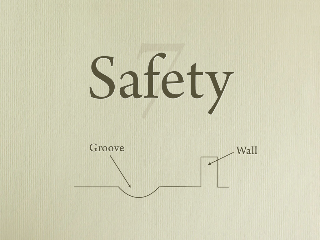 7 Safety Wall Groove
