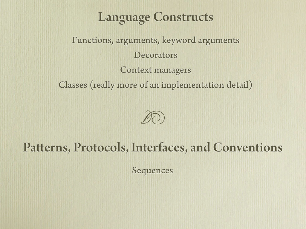 Sequences Patterns, Protocols, Interfaces, and ...