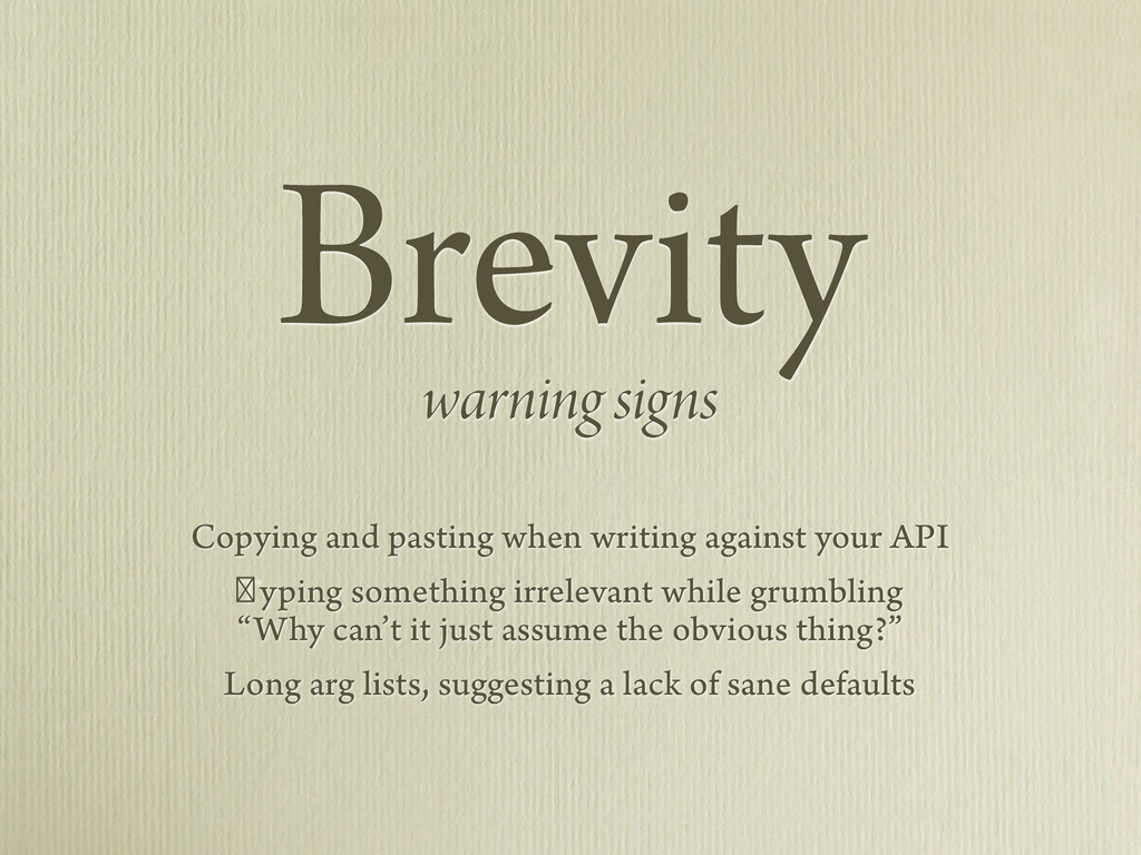 Brevity warning signs Copying and pasting when ...