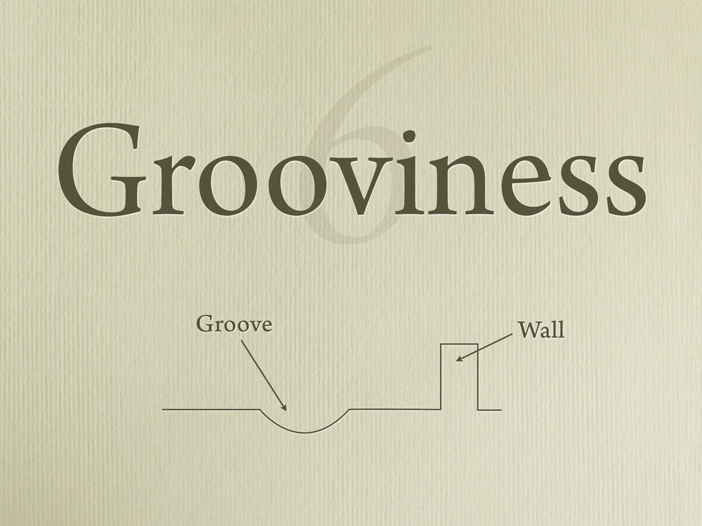 6 Grooviness Wall Groove
