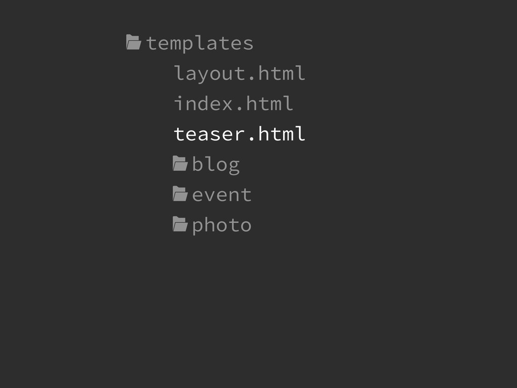 templates layout.html index.html !  blog  even...