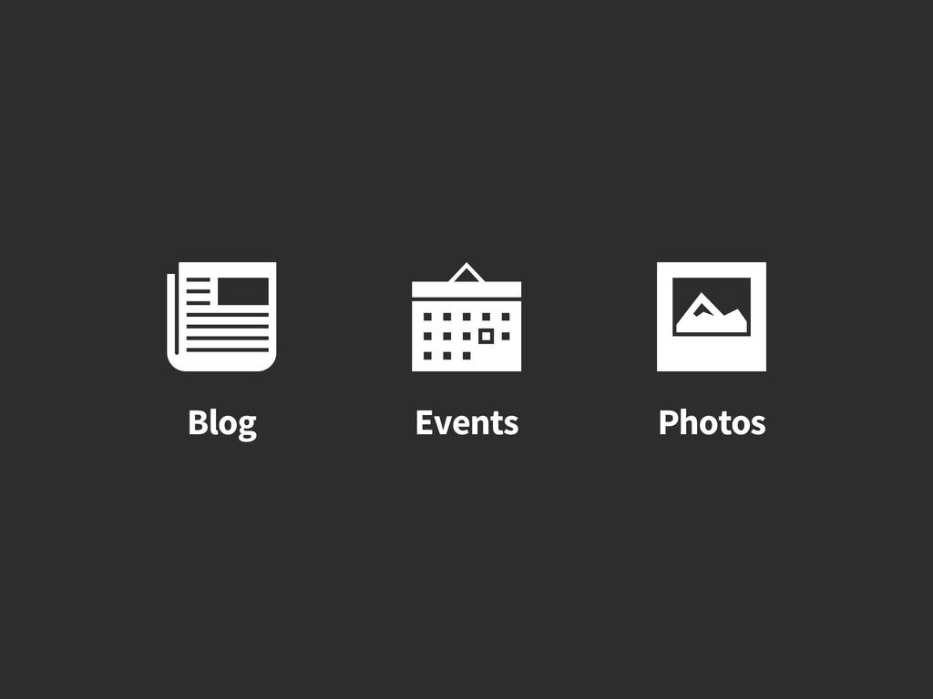 Photos  Events  Blog