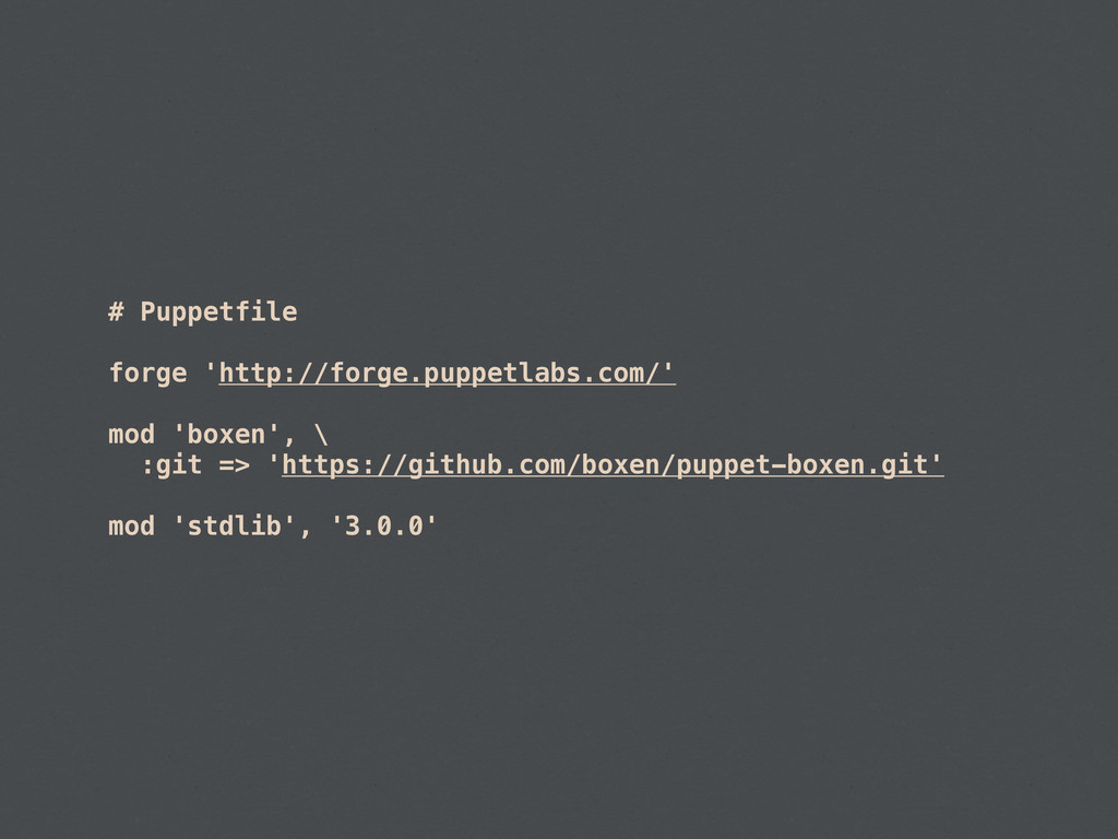 # Puppetfile forge 'http://forge.puppetlabs.com...