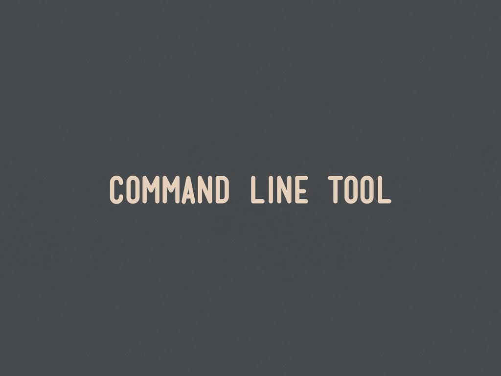 command line tool