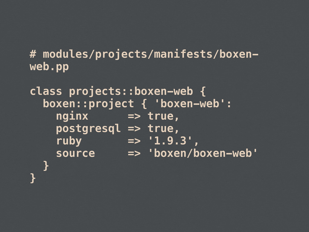 # modules/projects/manifests/boxen- web.pp clas...