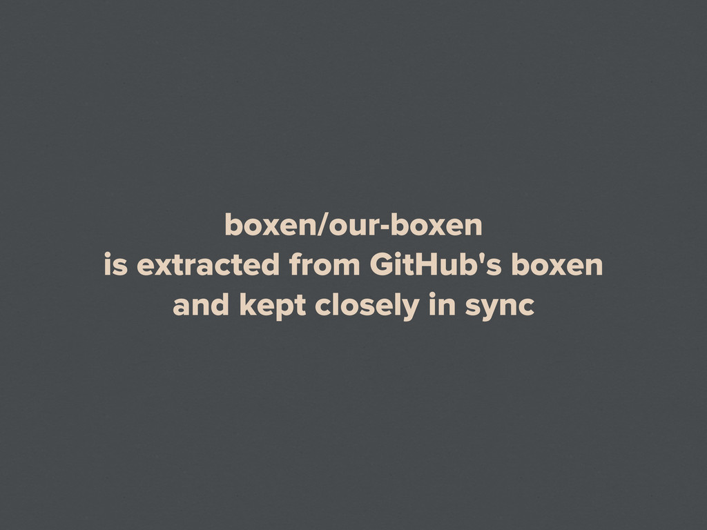 boxen/our-boxen is extracted from GitHub's boxe...