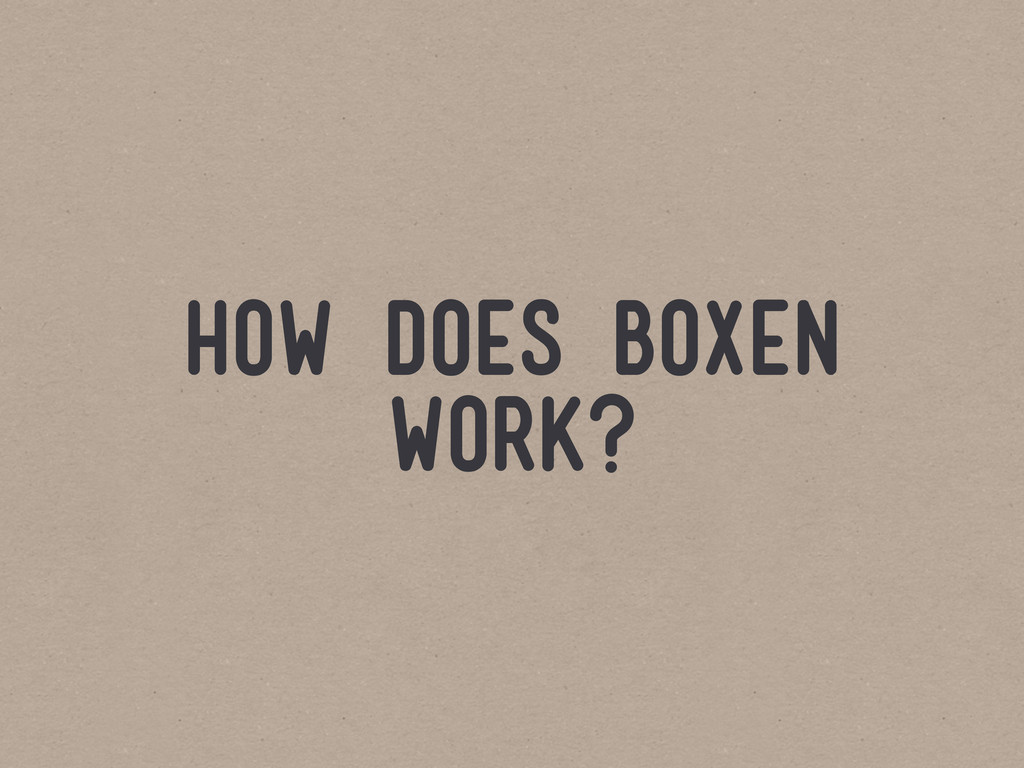 how does boxen work?
