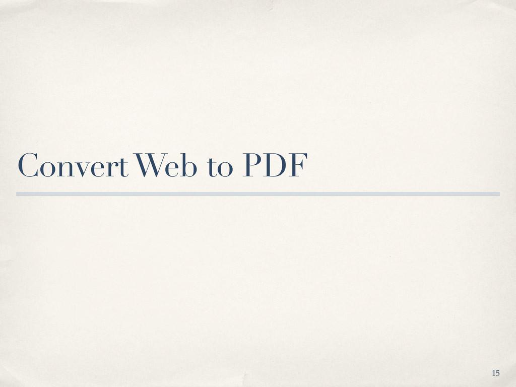 Convert Web to PDF 15