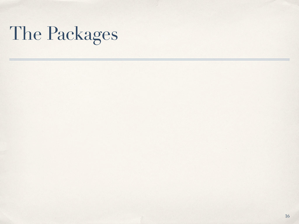The Packages 16